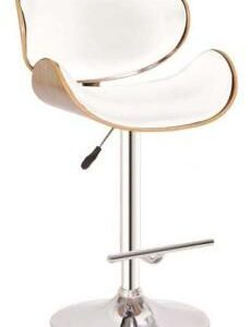 GAS LIFT WHITE BAR CHAIR